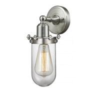 Innovations Lighting 232-SN-CL Centri 1 Light 4 inch Brushed Satin Nickel Wall Sconce Wall Light