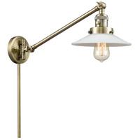 Innovations Lighting 237-AB-G1 Halophane 21 inch 60 watt Antique Brass Swing Arm Wall Light Franklin Restoration