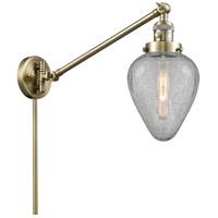 Innovations Lighting 237-AB-G165 Geneseo 35 inch 60 watt Antique Brass Swing Arm Wall Light Franklin Restoration