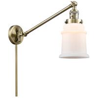 Innovations Lighting 237-AB-G181-LED Canton 18 inch 3.5 watt Antique Brass Swing Arm Wall Light Franklin Restoration