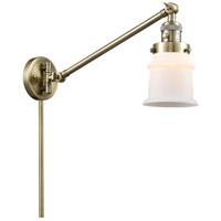 Innovations Lighting 237-AB-G181S-LED Small Canton 35 inch 3.5 watt Antique Brass Swing Arm Wall Light Franklin Restoration