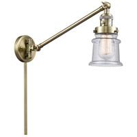 Innovations Lighting 237-AB-G184S Small Canton 35 inch 60 watt Antique Brass Swing Arm Wall Light Franklin Restoration