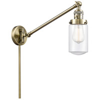 Innovations Lighting 237-AB-G312 Dover 30 inch 60 watt Antique Brass Swing Arm Wall Light Franklin Restoration