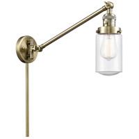 Innovations Lighting 237-AB-G314 Dover 30 inch 60 watt Antique Brass Swing Arm Wall Light Franklin Restoration