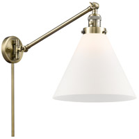 Innovations Lighting 237-AB-G41 Large Cone 30 inch 60 watt Antique Brass Swing Arm Wall Light Franklin Restoration