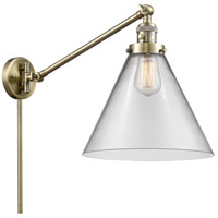 Innovations Lighting 237-AB-G42-L X-Large Cone 16 inch 60.00 watt Antique Brass Swing Arm Wall Light Franklin Restoration