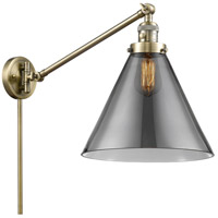 Innovations Lighting 237-AB-G43 Large Cone 30 inch 60 watt Antique Brass Swing Arm Wall Light Franklin Restoration