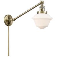 Innovations Lighting 237-AB-G531 Small Oxford 30 inch 60.00 watt Antique Brass Swing Arm Wall Light Franklin Restoration