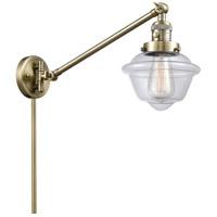 Innovations Lighting 237-AB-G532 Small Oxford 30 inch 60.00 watt Antique Brass Swing Arm Wall Light Franklin Restoration