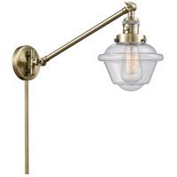 Innovations Lighting 237-AB-G534 Small Oxford 30 inch 60.00 watt Antique Brass Swing Arm Wall Light Franklin Restoration