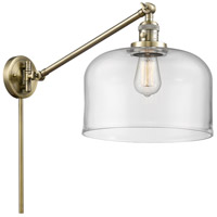 Innovations Lighting 237-AB-G72 Large Bell 21 inch 60 watt Antique Brass Swing Arm Wall Light Franklin Restoration