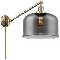 Innovations Lighting 237-AB-G73 Large Bell 21 inch 60 watt Antique Brass Swing Arm Wall Light Franklin Restoration