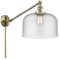 Innovations Lighting 237-AB-G74 Large Bell 21 inch 60 watt Antique Brass Swing Arm Wall Light Franklin Restoration