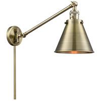 Innovations Lighting 237-AB-M13-AB Appalachian 18 inch 60 watt Antique Brass Swing Arm Wall Light Franklin Restoration