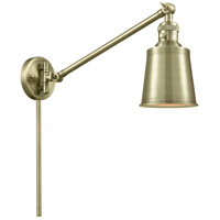 Innovations Lighting 237-AB-M9-AB Addison 21 inch 60 watt Antique Brass Swing Arm Wall Light Franklin Restoration