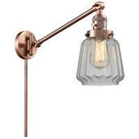 Innovations Lighting 237-AC-G142 Chatham 35 inch 60.00 watt Antique Copper Swing Arm Wall Light Franklin Restoration
