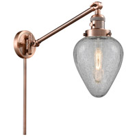 Innovations Lighting 237-AC-G165 Geneseo 35 inch 60.00 watt Antique Copper Swing Arm Wall Light Franklin Restoration