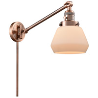 Innovations Lighting 237-AC-G171 Fulton 35 inch 60 watt Antique Copper Swing Arm Wall Light Franklin Restoration