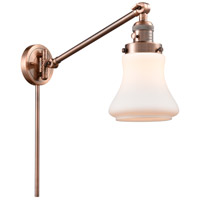 Innovations Lighting 237-AC-G191-LED Bellmont 35 inch 3.5 watt Antique Copper Swing Arm Wall Light Franklin Restoration
