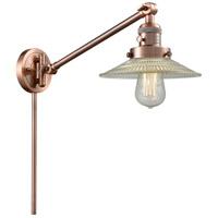 Innovations Lighting 237-AC-G2 Halophane 21 inch 60.00 watt Antique Copper Swing Arm Wall Light Franklin Restoration