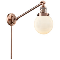 Innovations Lighting 237-AC-G201-6-LED Beacon 21 inch 3.5 watt Antique Copper Swing Arm Wall Light Franklin Restoration