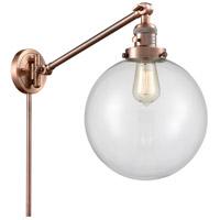 Innovations Lighting 237-AC-G202-10 X-Large Beacon 18 inch 60.00 watt Antique Copper Swing Arm Wall Light Franklin Restoration