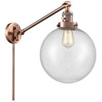Innovations Lighting 237-AC-G204-10 X-Large Beacon 18 inch 60.00 watt Antique Copper Swing Arm Wall Light Franklin Restoration
