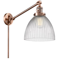 Innovations Lighting 237-AC-G222 Seneca Falls 18 inch 60 watt Antique Copper Swing Arm Wall Light Franklin Restoration