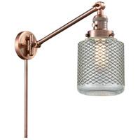 Innovations Lighting 237-AC-G262-LED Stanton 30 inch 3.5 watt Antique Copper Swing Arm Wall Light Franklin Restoration