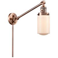 Innovations Lighting 237-AC-G311 Dover 30 inch 60 watt Antique Copper Swing Arm Wall Light Franklin Restoration