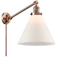 Innovations Lighting 237-AC-G41-L X-Large Cone 16 inch 60 watt Antique Copper Swing Arm Wall Light Franklin Restoration