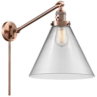 Innovations Lighting 237-AC-G42-L X-Large Cone 16 inch 60 watt Antique Copper Swing Arm Wall Light Franklin Restoration