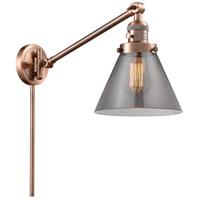 Innovations Lighting 237-AC-G43 Large Cone 30 inch 60.00 watt Antique Copper Swing Arm Wall Light Franklin Restoration