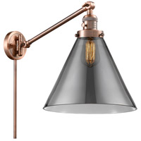 Innovations Lighting 237-AC-G43-L X-Large Cone 16 inch 60 watt Antique Copper Swing Arm Wall Light Franklin Restoration