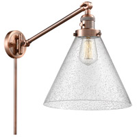 Innovations Lighting 237-AC-G44-L X-Large Cone 16 inch 60 watt Antique Copper Swing Arm Wall Light Franklin Restoration