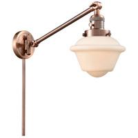 Innovations Lighting 237-AC-G531 Small Oxford 30 inch 60 watt Antique Copper Swing Arm Wall Light Franklin Restoration