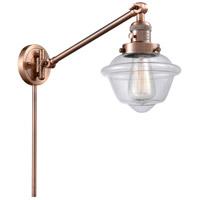 Innovations Lighting 237-AC-G532 Small Oxford 30 inch 60 watt Antique Copper Swing Arm Wall Light Franklin Restoration