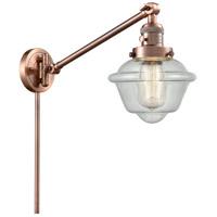 Innovations Lighting 237-AC-G534 Small Oxford 30 inch 60 watt Antique Copper Swing Arm Wall Light Franklin Restoration
