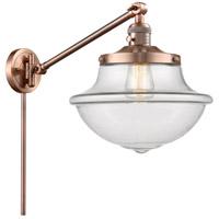 Innovations Lighting 237-AC-G542 Large Oxford 20 inch 60 watt Antique Copper Swing Arm Wall Light Franklin Restoration