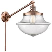 Innovations Lighting 237-AC-G544 Large Oxford 20 inch 60 watt Antique Copper Swing Arm Wall Light Franklin Restoration