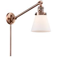 Innovations Lighting 237-AC-G61 Small Cone 21 inch 60.00 watt Antique Copper Swing Arm Wall Light Franklin Restoration