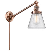 Innovations Lighting 237-AC-G64 Small Cone 21 inch 60.00 watt Antique Copper Swing Arm Wall Light Franklin Restoration