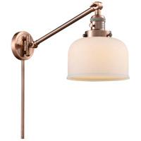 Innovations Lighting 237-AC-G71 Large Bell 21 inch 60 watt Antique Copper Swing Arm Wall Light Franklin Restoration