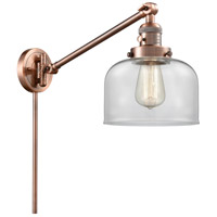 Innovations Lighting 237-AC-G72 Large Bell 21 inch 60.00 watt Antique Copper Swing Arm Wall Light Franklin Restoration