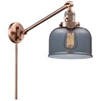 Innovations Lighting 237-AC-G73 Large Bell 21 inch 60 watt Antique Copper Swing Arm Wall Light Franklin Restoration