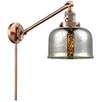 Innovations Lighting 237-AC-G78 Large Bell 30 inch 60 watt Antique Copper Swing Arm Wall Light Franklin Restoration