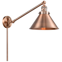 Innovations Lighting 237-AC-M10-AC Briarcliff 21 inch 60 watt Antique Copper Swing Arm Wall Light Franklin Restoration
