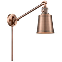 Innovations Lighting 237-AC-M9-AC Addison 21 inch 60.00 watt Antique Copper Swing Arm Wall Light, Franklin Restoration photo thumbnail