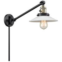 Innovations Lighting 237-BAB-G1-LED Halophane 21 inch 3.5 watt Black Antique Brass Swing Arm Wall Light Franklin Restoration