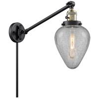 Innovations Lighting 237-BAB-G165 Geneseo 35 inch 60 watt Black Antique Brass Swing Arm Wall Light Franklin Restoration